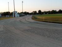 Asphalt base construction. | Track Surface Services