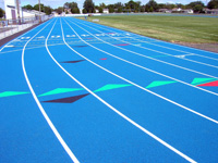 Track Striping | Track Surface Services